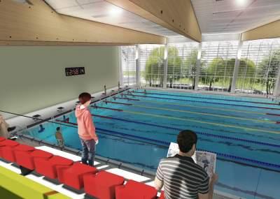 Las caracter sticas de la nueva piscina temperada que for Diseno grafico de piscina olimpica